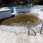 Draining swimming pool water