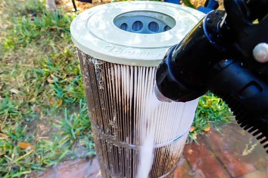 Routinely check your pool water filter